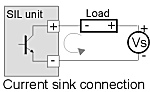 diagram showing a current sink connection